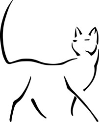 Cat Outline print art