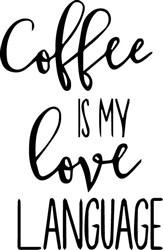 Coffee Love Language print art