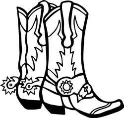 Cowboy Boots print art
