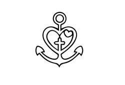 Heart Anchor print art
