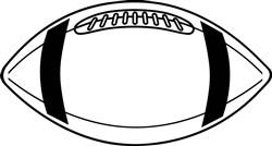 Football Outline print art