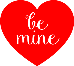 Be Mine Heart print art