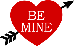 Be Mine Heart Arrow print art