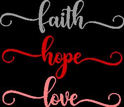 Faith Hope Love print art