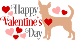 Valentines Day Chihuahua print art