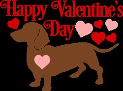Valentines Day Dachshund print art