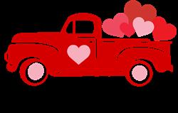 Happy Valentines Day Truck print art