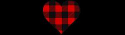 Buffalo Check Heart print art