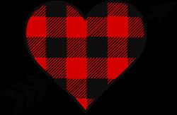 Checked Heart print art