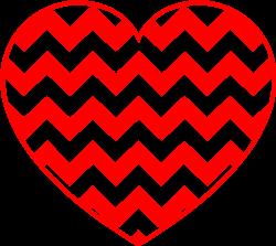 Chevron Heart print art