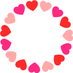 Heart Circle print art