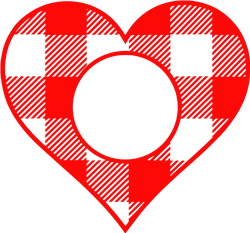 Monogram Check Heart print art