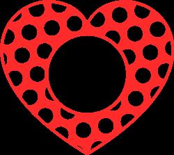 Monogram Polka Dot Heart print art