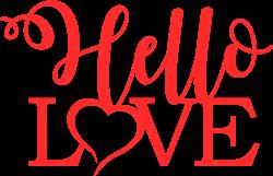 Hello Love print art