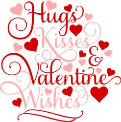 Hugs Kisses & Wishes print art