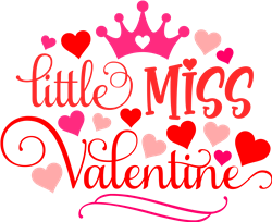 Little Miss Valentine print art