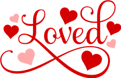 Loved Hearts print art
