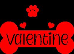Dog Valentine print art