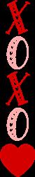 XOXO Vertical print art