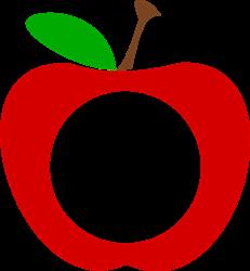 Apple Monogram Frame print art