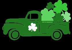 St. Patricks Day Truck print art
