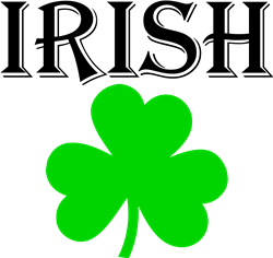 Irish Shamrock print art