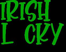 Irish & Lucky print art