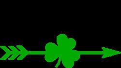 Irish Shamrock Arrow print art