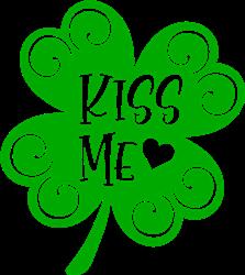Kiss Me Shamrock print art