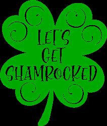 Lets Get Shamrocked Shamrock print art