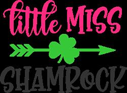 Little Miss Shamrock Arrow print art