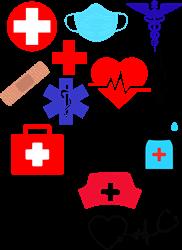 Medical Icons print art