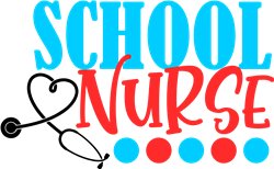 School Nurse & Stethoscope print art