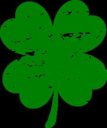 St. Patricks Distressed Shamrock print art