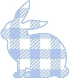 Buffalo Plaid Easter Bunny print art