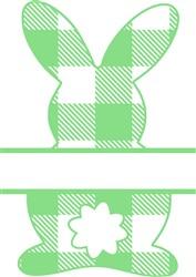 Plaid Bunny Name Drop print art
