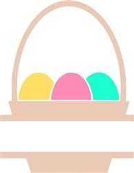 Easter Basket Name Drop print art