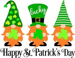 Happy St. Patrick's Gnomes print art