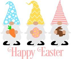 Gnomes Happy Easter print art