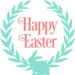 Happy Easter Laurel print art