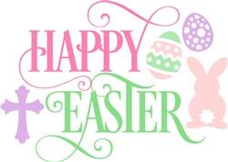 Religious Happy Easter Bunny print art