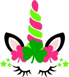 Colorful St. Patricks Day Unicorn print art
