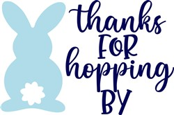 Thanks For Hopping By print art