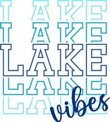 Lake Vibes print art