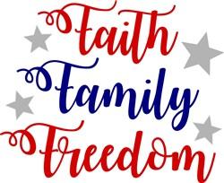 Faith Family Freedom print art
