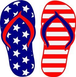 Patriotic Flip Flops print art