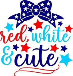 Red, White & Cute Bow print art