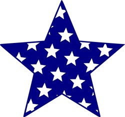 Star Filled Star print art