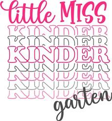 Miss Kindergaarten print art