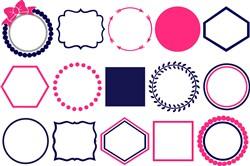 Monogram Frames print art